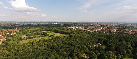 Luftaufnahme der Stadt Braunschweig (Bild: DSLregional.de/city_copter)