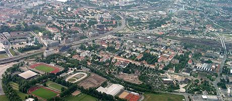 Dresden Luftbild (Bild: Flickr.com / Henry Mühlpfordt, [url=https://creativecommons.org/licenses/by-sa/2.0/]CC BY-SA 2.0[/url])