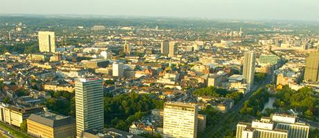 Düsseldorf Luftaufnahme (Bild: Flickr.com / Sebastian Dooris)