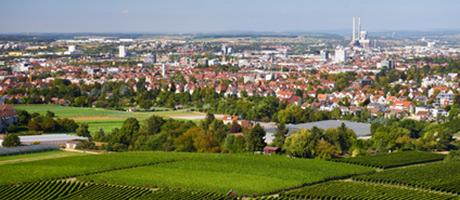 Heilbronn Luftbild (Foto: #122693455 © Manuel Schönfeld - Fotolia.com)