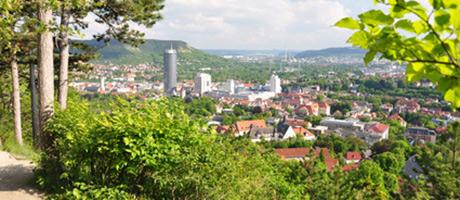 Blick auf Jena (Foto: #76564490 © Henry Czauderna - Fotolia.com)