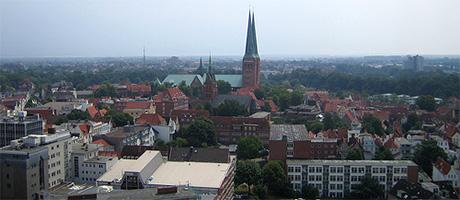 Lübeck Luftaufnahme (Bild: Flickr.com / Henri Sivonen)
