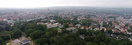 Luftbild von Osnabrück (Bild: DSLregional.de/city_copter)