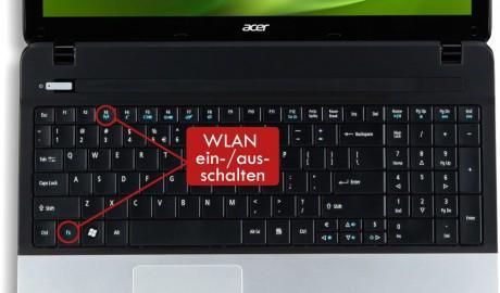 Beim Notebook das WLAN ein-/ausschalten