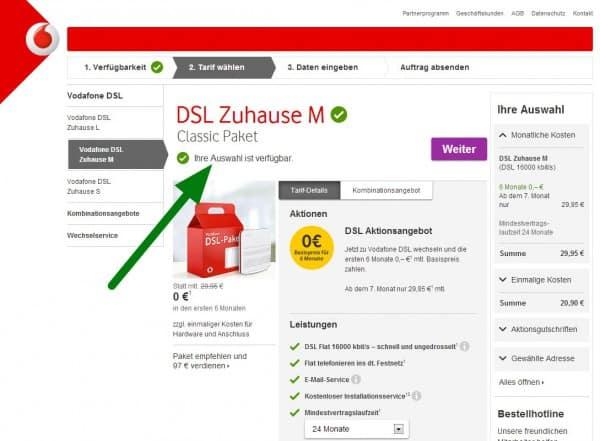 Vodafone Verf 252 Gbarkeit Check F 252 R Dsl Und Lte