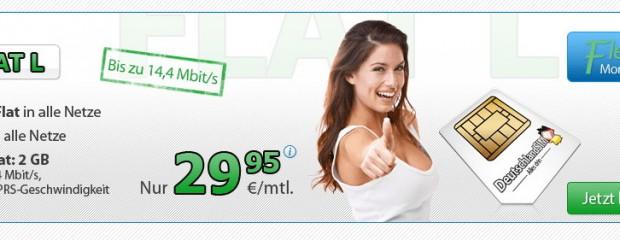 Allnet-Flat mit 2 GB: DeutschlandSIM bringt Tarif für unter 30 €