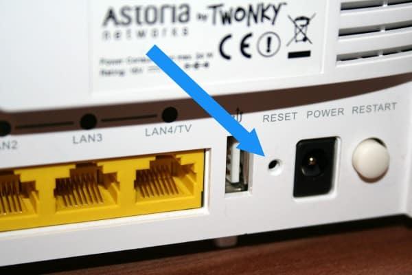 Router zurücksetzen