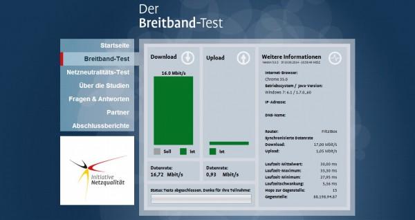 Breitband-Test