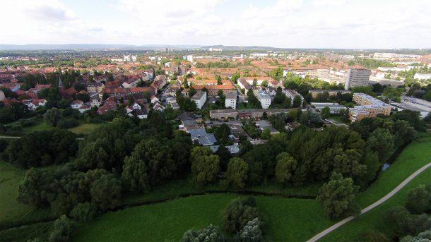 Hannover City Luftaufnahme