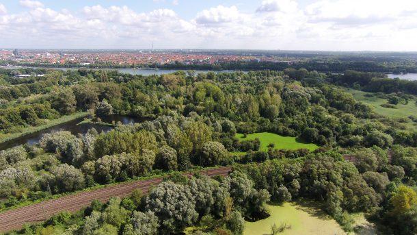 Maschsee Luftbild in Hannover