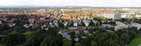 Hannover Panorama Luftaufnahme