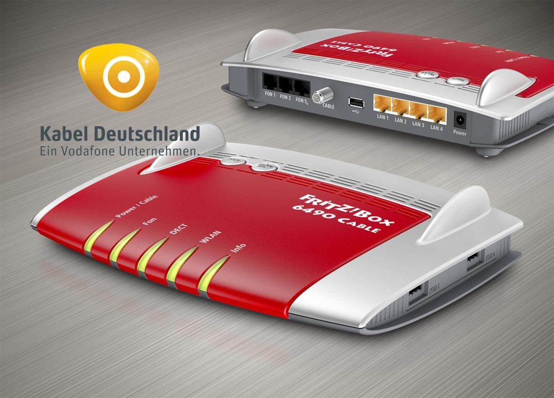 Kabel Deutschland Fritzbox 6490 cable