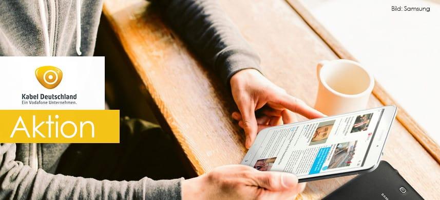 Kabel Deutschland Aktion: Dieses Samsung Tablet (4 8.0 LTE) gibt es gratis bei Vertragsabschluss