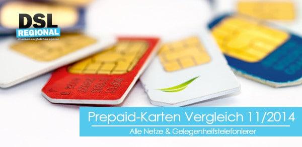 Prepaid-Karten Vergleich November 2014