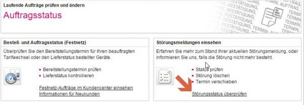 Telekom Störung-Status prüfen