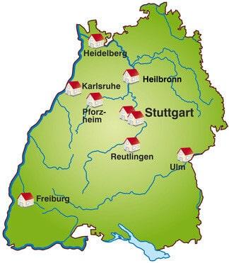 Große Städte In Baden Württemberg
