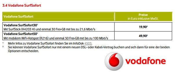 Vodafone Surfsofort