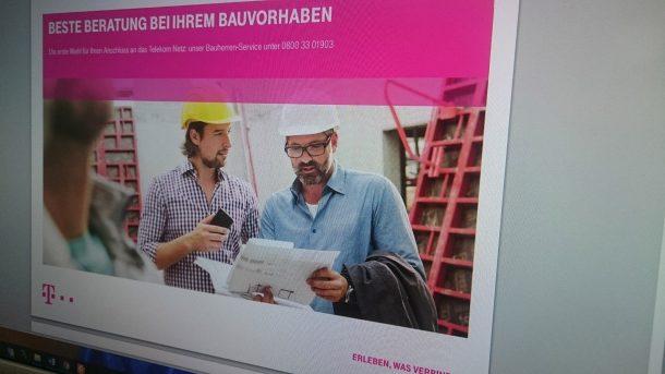 Bauvorhaben Beratung der Telekom