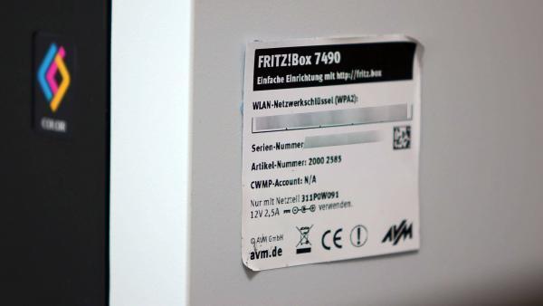 Fritzbox WLAN-Schlüssel Aufkleber
