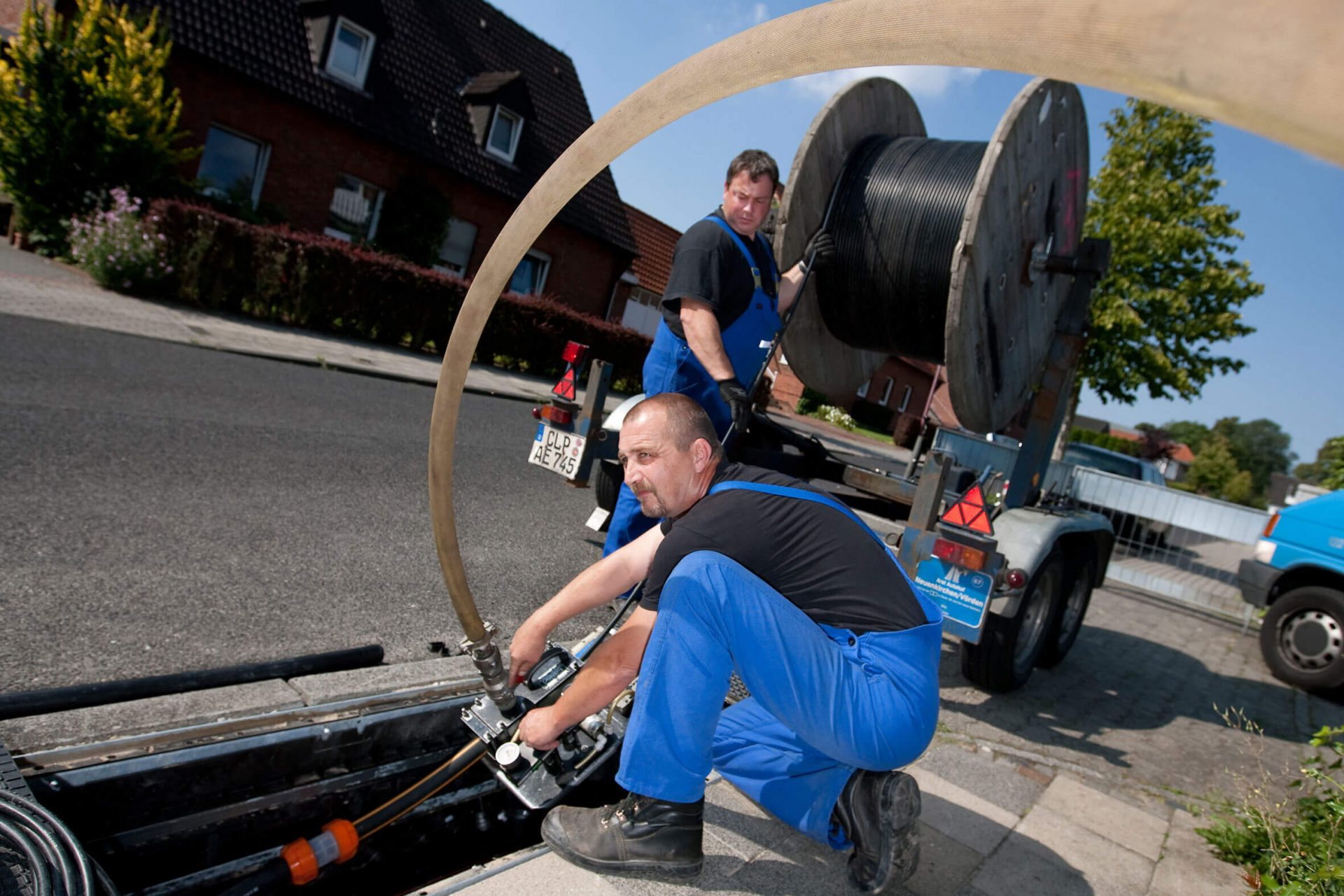 Glasfaser-Ausbau bei EWE