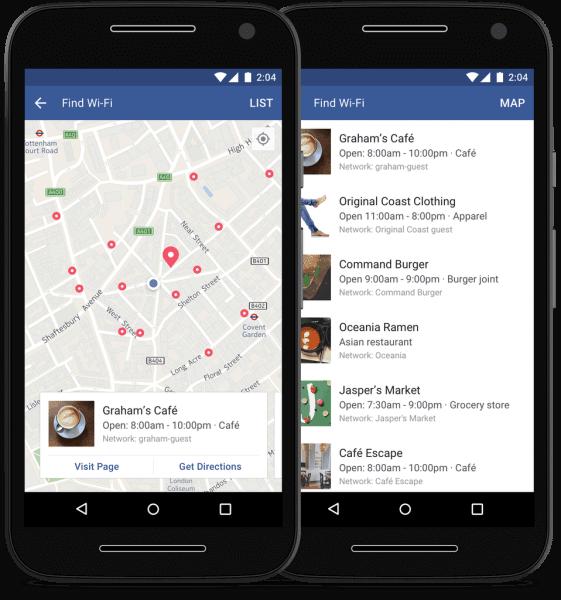 Facebook WLAN Finder
