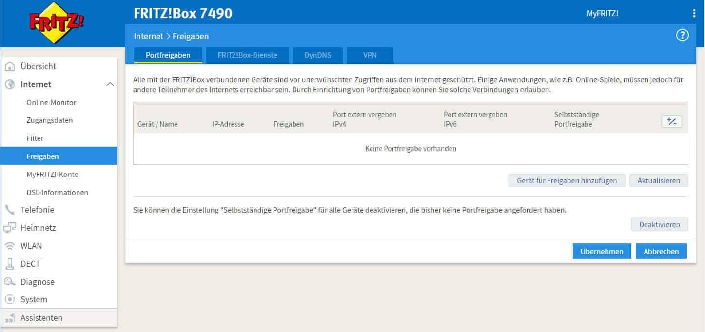 Fritzbox 7490 Einrichten Einfache Anleitung So Gehts