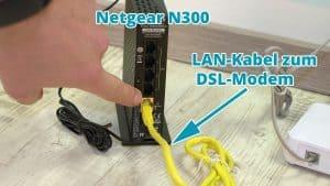 N300 LAN-Kabel anschließen