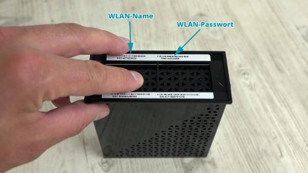 N300 Unterseite WLAN-Name und Passwort