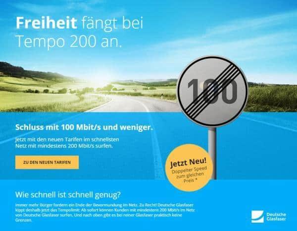 Deutsche Glasfaser 200 Mbit