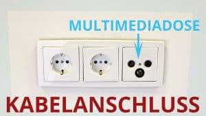 Multimediadose beim Kabelanschluss