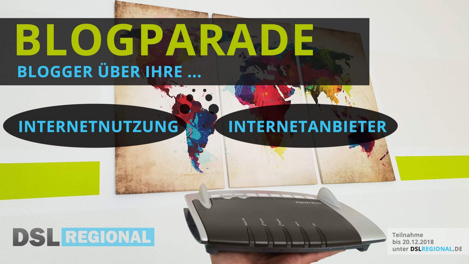 Blogparade: Blogger über Internetnutzung und Internetanbieter
