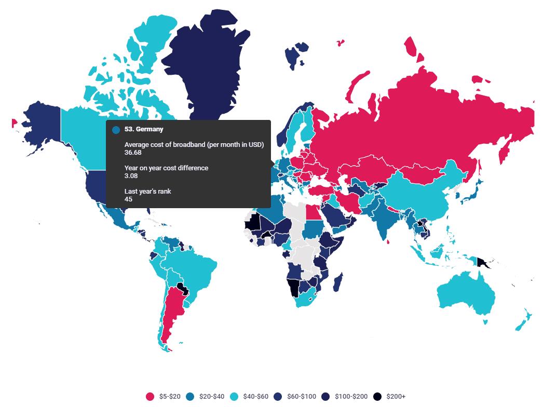 dsl karte deutschland DSL Verfügbarkeit Karte ✔️ Interin Deutschland (16 Bundesländer)