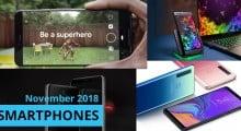 Smartphones November 2018