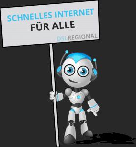 Schnelles Internet - DSLregional Maskottchen Kuno