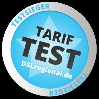 Tarif-Test: Testsieger auf DSLregional.de