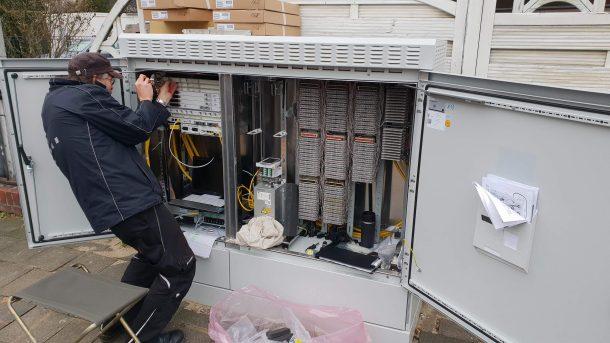 Telekom VDSL-250 Ausbau am Multifunktionsgehäuse