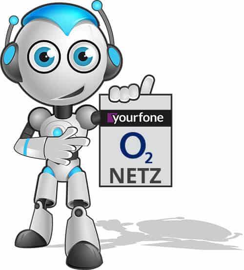 Yourfone nutzt das o2-Netz