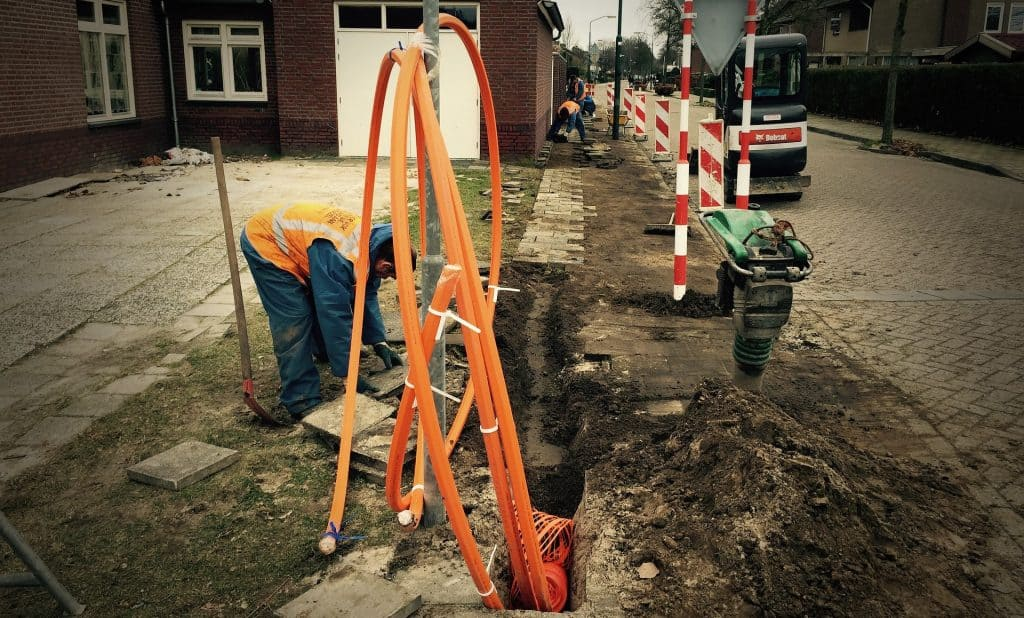 Glasfaser-Ausbau - die Bauarbeiten
