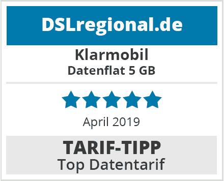 Klarmobil Datenflat 5 GB Top-Datentarif April 2019