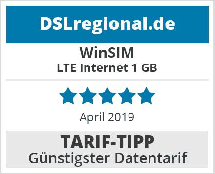 WinSIM-Tariftipp günstiger Datentarif im April 2019