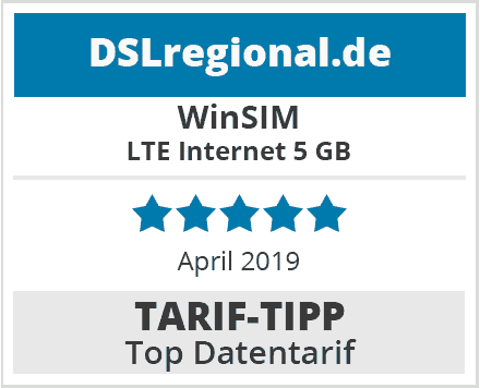 WinSIM-Tariftipp Top Datentarif April 2019