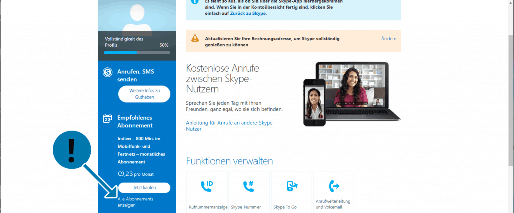Skype-Abo kündigen
