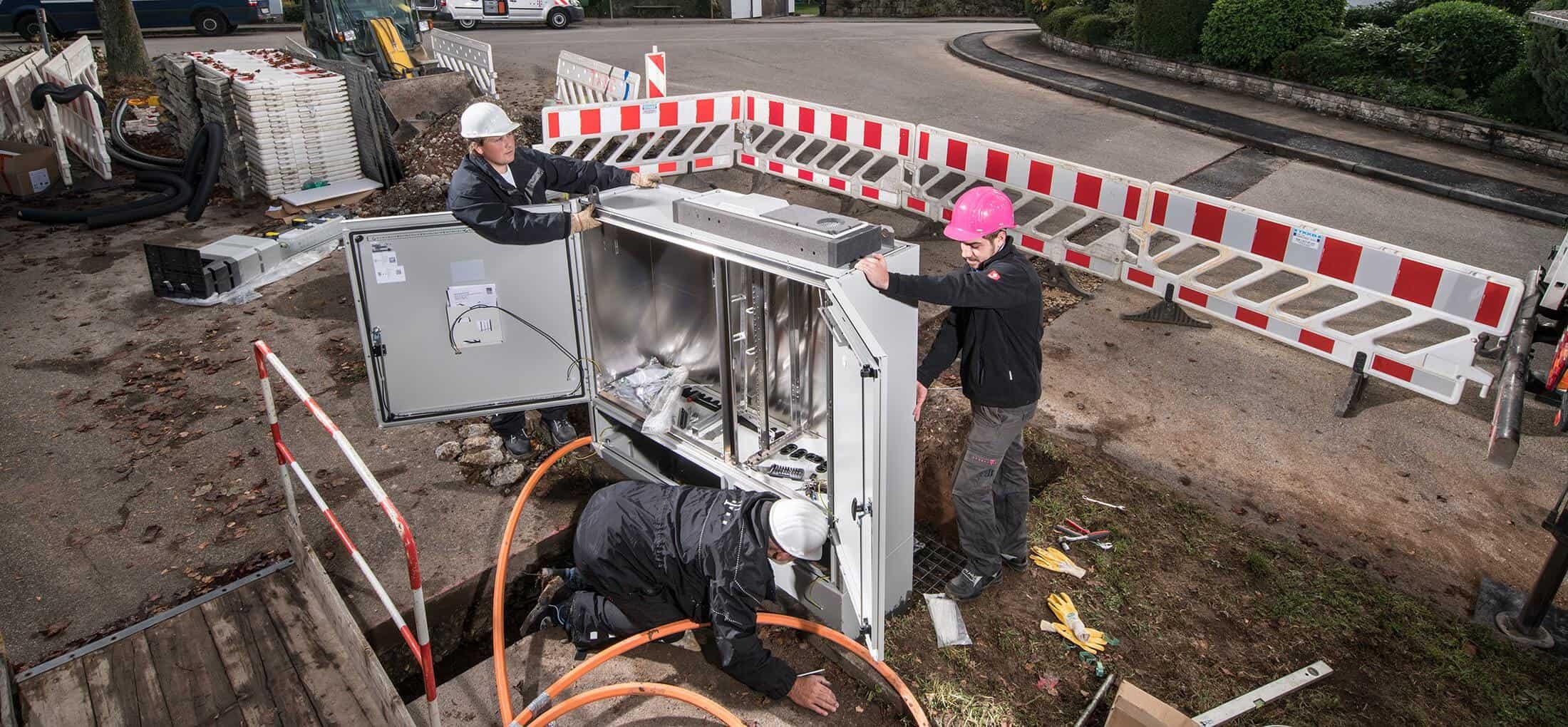 Telekom VDSL-Ausbau am Verteilerkasten