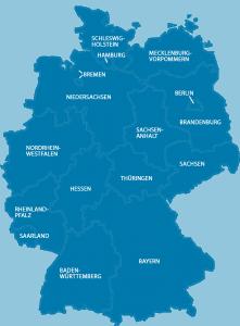 Deutschand-Karte zur Prüfung der Verfügbarkeit
