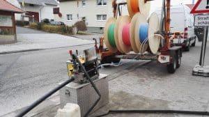 Glasfaser in Leerrohre einblasen