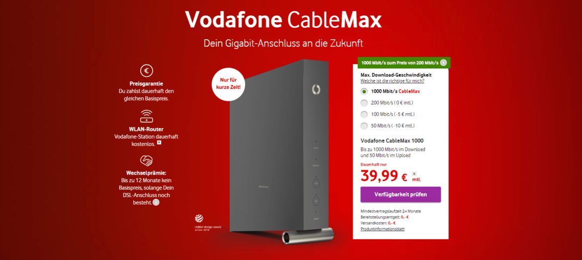 CableMax 1000 - Vodafone
