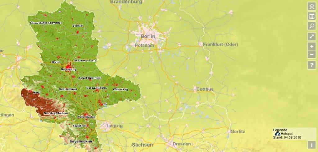 Breitband Sachsen-Anhalt - Internetverfügbarkeit