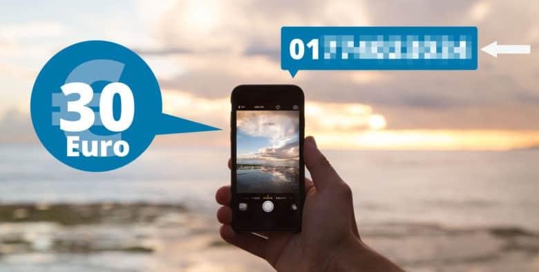 Handy Rufnummernmitnahme kostet 30 Euro