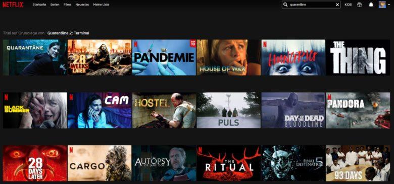 Netflix Quarantäne-Filme