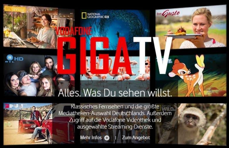 Vodafone DSL-Angebot mit GigaTV